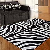 Gbf Mode Teppiche Trendige Zebramuster Teppiche personalisierte Schwarze und weiße Teppiche Wohnzimmer Couchtisch Teppiche Kinder kriechen Decke weich und bequem leicht zu reinigen