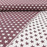 Gobelinstoff Sterne 2-seitig verwendbar Altrosa Canvasstoff Doubleface - Preis Gilt für 0,5 Meter -