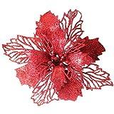 Weihnachten Romantisch Dekoration Hirolan Weihnachtsschmuck Blumenblätter Dekorationen für Hochzeit Party Weihnachtsmänner Zeichenfolge Hängende Weihnachtsbaum Ornament 16CM