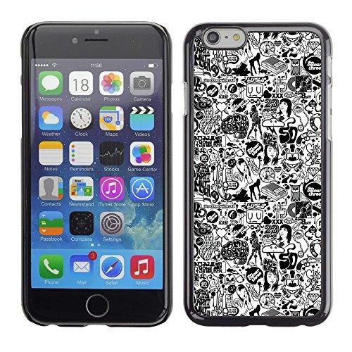 GooooStore/Dura Custodia Rigida della copertura della cassa - 1970 Woman Style Fashion Make Up Art - Apple Iphone 6 Plus 5.5