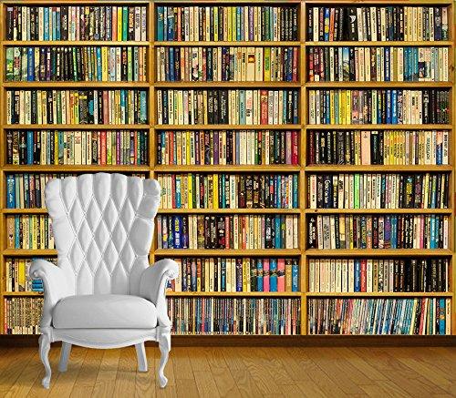 Chicbanners Bücherregal/Bücherregal, selbstklebend, Vinyl, 2 m hoch x 2,7 m breit