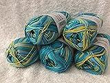 Gründl Cotton Quick Print 100% Coton / 50 g ~ 125 m/Lapin Baskets Baskets 232