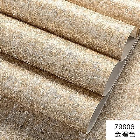 BABYQUEEN Minimalistische Pixel Color Nicht-Tuch Tapete Vlies Moderne Chinesische Wohnzimmer Schlafzimmer Tapete Retro Grün Stereoskopischen 3D-Tapete Golden Brown 0.53*10m