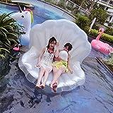 SmartLife adultes géant piscine flotteur Pearl Scallops Coque gonflable flottant Matelas Chaise longue Perle Boule flottante