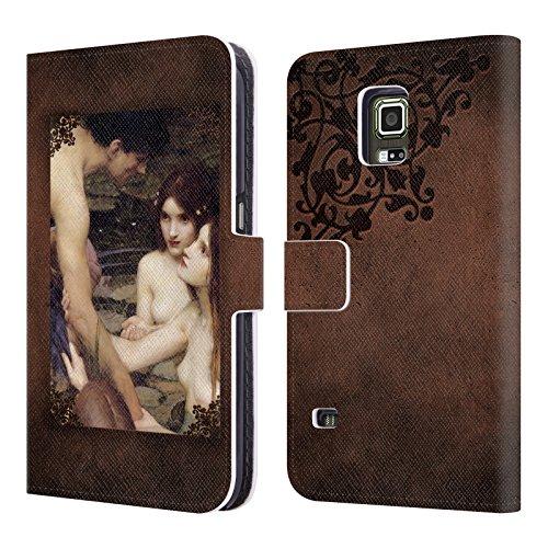 Offizielle Brigid Ashwood Wasserhaus 7 Präraffaeliten 2 Brieftasche Handyhülle aus Leder für Samsung Galaxy S5 Active