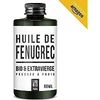 HUILE DE FENUGREC BIO 100% Pure et Naturelle, Pressée à Froid & Extra Vierge. Augmentation de la poitrine (60ml)