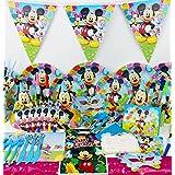 Mickey Mouse fiesta infantil cumpleaños Set Platos, vasos, servilletas bolsas de fiesta y más