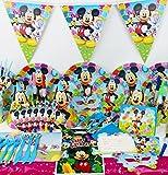 Mickey Maus Komplett Party Supplies Kinder Set Geburtstag Teller Becher Servietten Partytüten und mehr