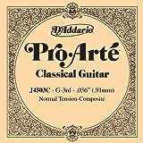 D'Addario J4503C Pro-Arte einzelne dritte Saite für Gitarre, normal