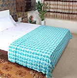 #10: MOSGARD- Mosquito Repellent Blanket (SeaBlue Leaves-L)