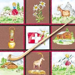 20er Pack Servietten Heimat Schweiz, 33 x 33 cm