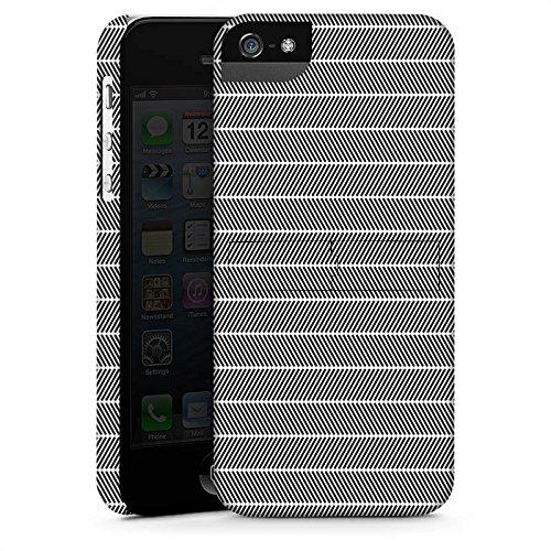 Apple iPhone X Silikon Hülle Case Schutzhülle Illusion Schwarz-Weiß Muster Premium Case StandUp