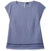 OVS Women's 191SHI226-74 SHIRT, Blue (Blue/white 217), Size 40