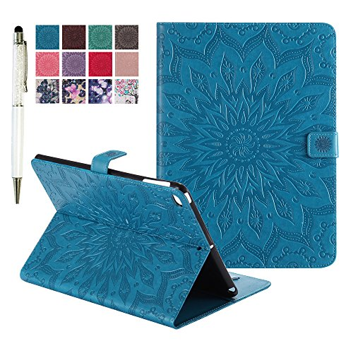 MiusiCase Custodia per iPad Mini 1 2 3,PU Pelle Flip Protettivo Stand Custodia Cover,Con Funzione Auto Sleep per Apple iPad Mini 1/iPad Mini 2/iPad Mini 3 Generation.(Sunflower blue)