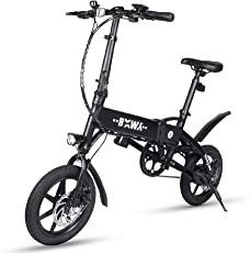 Leiyini E-Bike Klapprad Erwachsene Elektrofahrrad Klappfahrrad mit 14 Zoll Rädern