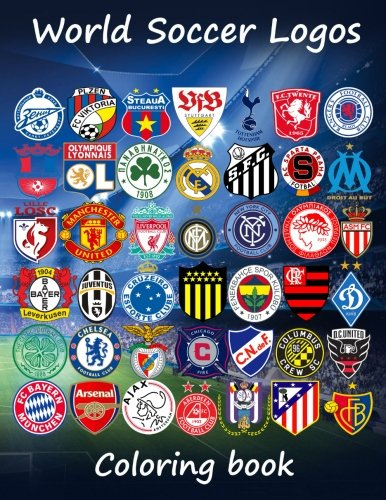 World Soccer Logos: World football team badges of the best clubs in the world, this coloring book is different as in the colored badges are on the ... 80 teams to enjoy. Great for kids and adults. thumbnail