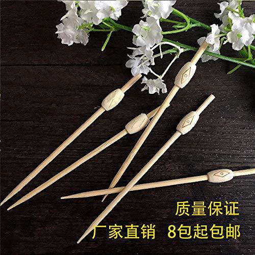 Sannysis Einweg-Frucht-Cocktail Blume Zeichen Zeichen Zahnstocher kreative Sandwiches Bambus Obst Gabel Dessert dekoriert Dach Zeichen x-005 -