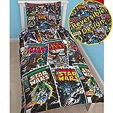 Star Wars Juego de Cama Individual, diseño Reversible y alusivo a la Saga de películas de la...