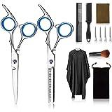 Kit di forbici professionali per parrucchiere, 12 set di parrucchieri con forbici pettine per capelli, mantello, forbici da t