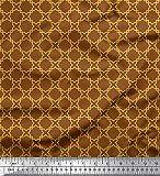 Soimoi Braun Viskose Chiffon Stoff gelb marokkanisch