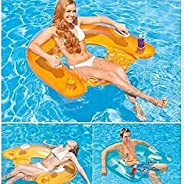 GT Seated Row Luxury Inflatable Floating Beach Toy for Kids and Adults with Drink Location Double Air Chamber