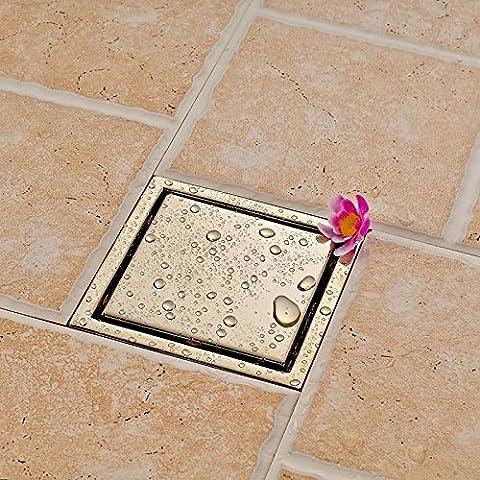 CAC Moderno ottone massiccio spazzolato Nickle Square Bagno doccia deodoranti scarico a pavimento