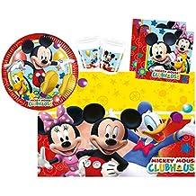 Procos 10108580B - Set para fiesta infantil - Disney Mickey Mouse - Playful Mickey, tamaño S, 37 piezas