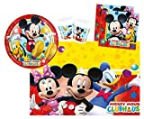Procos 10108580B Kinderpartyset Disney Mickey Mouse Playful Mickey, Größe S, 37 teilig