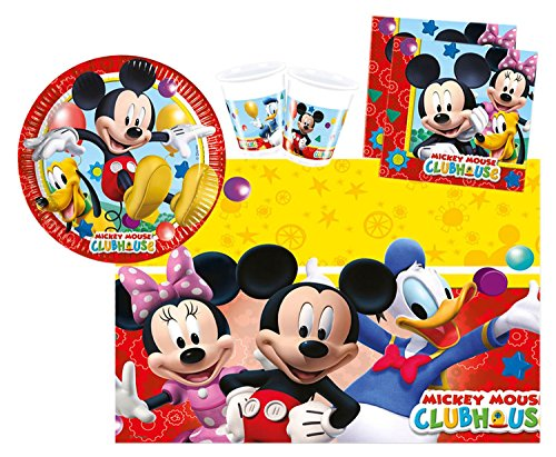 derpartyset Disney Mickey Mouse Playful Mickey, Größe S, 37 teilig (Minnie Maus 1 Geburtstag Party)