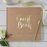 Livre d'or kraft guest book doré