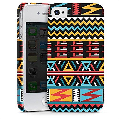 Apple iPhone X Silikon Hülle Case Schutzhülle Ethno Style Muster Tribal Premium Case glänzend