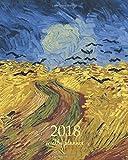 Weekly & Monthly Planner 2018: Calendar Schedule Organizer Appointment Journal Notebook To do list and Action day 8 x 10 inch art design, Wheatfield 1890 - Vincent van Gogh artist: Volume 86