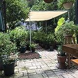 Frilivin Sonnensegel Rechteckig Sonnenschutz Garten UV Schutz Premium Schatten Tuch Markisen Beige (1x1m)