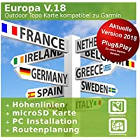 Europa V.18 - Profi Outdoor Topo Karte kompatibel zu Garmin Oregon 680, Oregon 680t, Oregon 750, Oregon 750t
