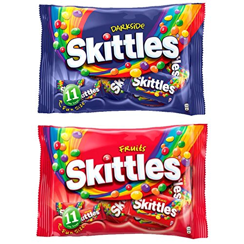 Limited Edition Darkside Skittles & Original Fun Size Fruits Pack