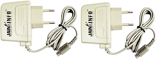 Jain Info™ Branded Pack Of Two Power Supply Adapters/Chargers for Nintendo DSi -- Compatible with DSi/DSi-XL/3DS/3DS-XL/New 3DS-XL /2DS. Generic