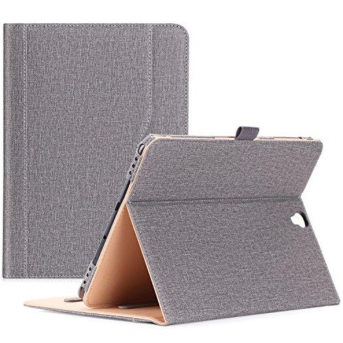 ProCase Samsung Galaxy Tab S3 9.7 Hülle, Stand Folio Case Cover für Galaxy Tab S3 Tablet (9,7 Zoll, SM-T820 T825), mit Mehreren Betrachtungswinkeln, Dokumentenkarte Tasche –Grau