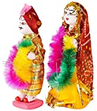 #7: Art Bazar Glossy Gangaur Showpiece (18 cm x 15 cm x 6 cm, Set of 2)