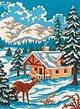 grafitec Gedruckt Tapisserie/Set–Winter Wonderland (Hirsch)