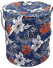 Souxe Popup Polycotton Laundry Bag- (Small, 30L,Multicolour)