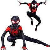 Disfraz Spiderman Halloween Navidad Spider-Man Into The Spider-Verse Miles Morales Ninos Cosplay Costume Y Mascara