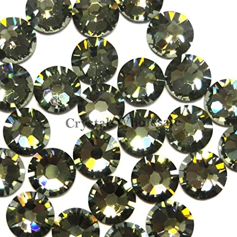 144 pcs Black Diamond (215) Swarovski 2058 Xilion / NEW 2088 Xirius 16ss Flat backs Rhinestones 4mm ss16 by Crystal-Wholesale