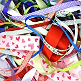 Mixed Ribbon Off Cut Bundle - Contains 10 Different 1 Metre Ribbons - Premier Quality