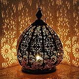 Orientalische Eisenlaterne Saloni 30cm indisches Windlicht Laterne mediterrane Gartenlaterne Orientlampe