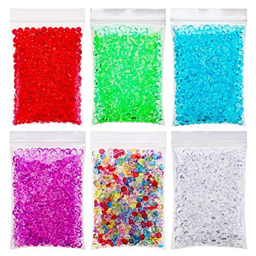 Fishbowl Perlen Glitter für Schleim, 6 Pack Handwerk Vase Füller Perlen Multicolor, DIY Kunst Handwerk für selbstgemachte Schleim, Hochzeit und Party Dekoration (Kunststoff, 6 Farben, 10.5 Unzen) (Multicolor Glitter Handwerk)