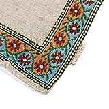 Luxbon Baumwolle Leinen Kissenbezug Kissen Fall Sofa Taille Throw Cover Pillowcase Huelle Couch Stuhl Auto Haus Deko 45 x 45 cm Tapestry Jacquard Retro indischer Elefant - 7