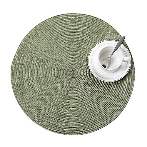 Hand Woven Mats Anti-hot PP Insulation Pad Home Daily Necessities Coasters - Green Green Coaster