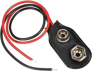 Hilai 1pc Black Red Short Cable Connection 9V Batteria Clip Fibbia connettore