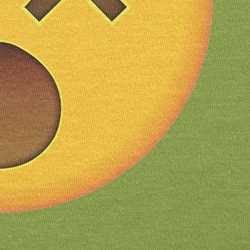 Texlab–dizzy Face Emoji–sacchetto di stoffa Verde chiaro