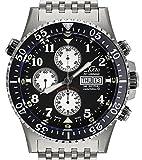 Xezo Air Commando Mens Divers, Pilots Valjoux 7750 Schweizer Automatik-Chronograph, 30 Atm wasserdicht. Tag, Datum